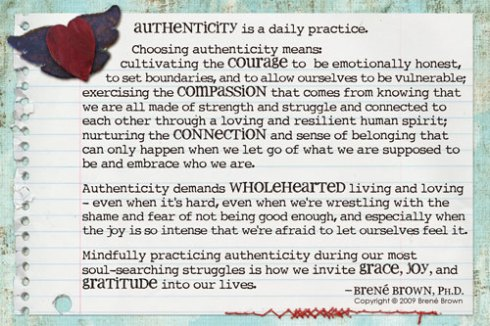 authenticity brene brown