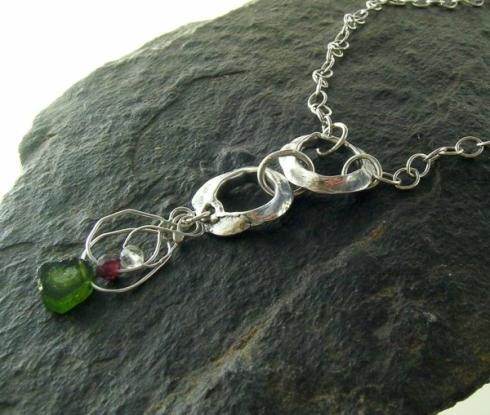 Woodland Rings with tourmaline and sapphire